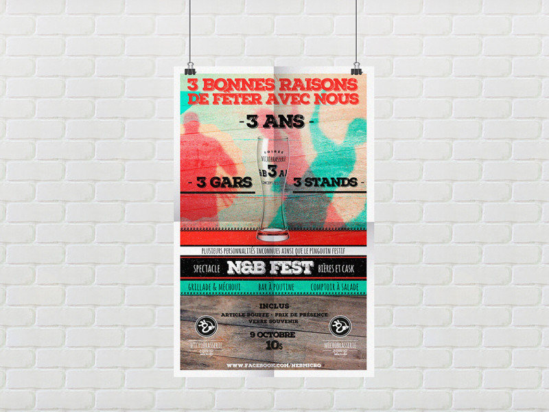 N&B Poster 3 ans re
